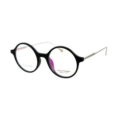Elite Design 2960 Black Matte - Frame Kacamata Bulat cowo cewe