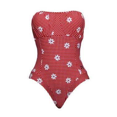 Lasona SW-3092-L01347 Baju Renang Wanita - Merah