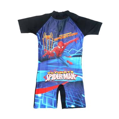 Nice Motif Spiderman Baju Renang ABG – Hitam
