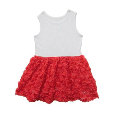 Littleme 6287 Dress Anak - Putih Merah