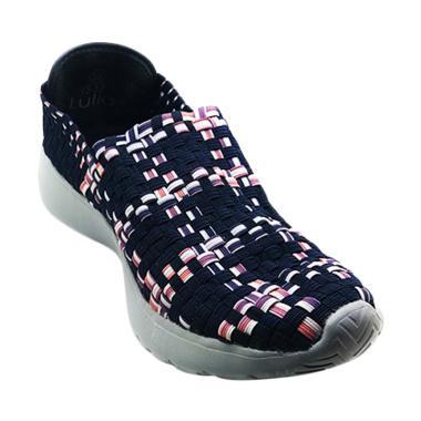 Lulia VS32 Sepatu Rajut Wanita - Navy