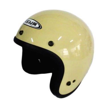 Zeus ZS-385 Retro Helm Half Face - Ivory