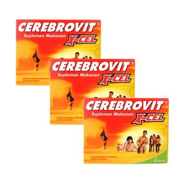 Cerebrovit X-cel Suplemen [3 Box]