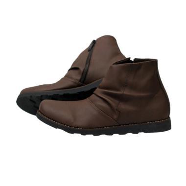 Handmade Mr Joe Kerutos Sepatu Boots - Brown