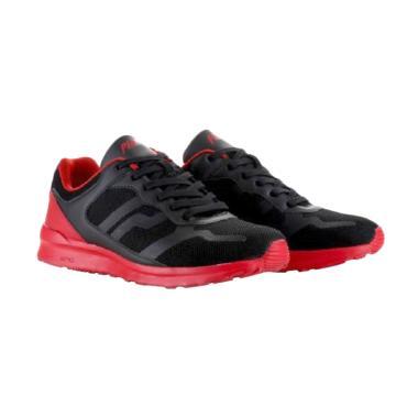 Piero Tracker P20207 Sneaker Pria - Black Red