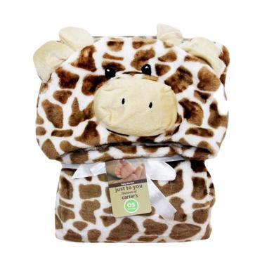 Carter 3D Giraffe Selimut Topi - Brown