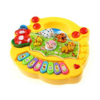 Mainan Music Piano + Animal Sound - Kuning