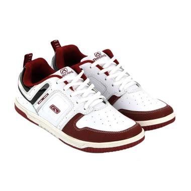 RecordShoes Bellagio White Burgundy Sneaker Shoes