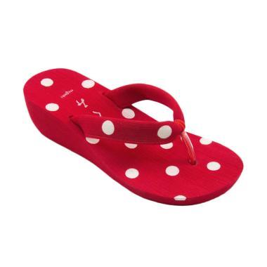 Megumi Laurel Sandal Heels Wanita - Red
