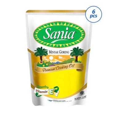 Sania Premium Minyak Goreng [2000 mL/6 Pouch]