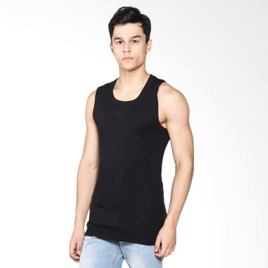 LGS Men Underwear Tank Top Pria - Black [1 Pcs] LETS-003-441-H-7C