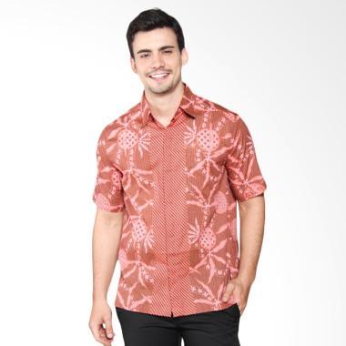Batik Adikusuma Kombinasi Kemeja Pria - Coklat 412348126