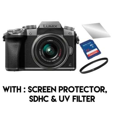 harga Panasonic Lumix DMC G7 Kit 14-42mm with Screen Protector, SDHC & UV Filter Blibli.com