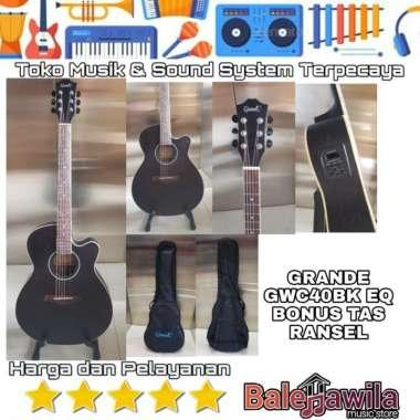 harga Gitar Akustik Elektrik GRANDE GWC 40BK EQ GWC40BKEQ (Bonus Tas) ORIGINAL Blibli.com