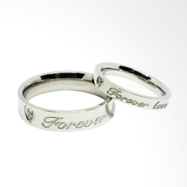 Cincin Couple Titanium Anti Karat CC062 (Female 6 & Male 7)