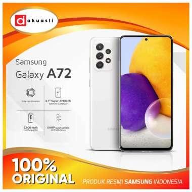 harga Samsung Galaxy A72 8/128 8/256 GB Kamera 4K RAM 8 ROM 128 256 Snapdragon 720G HP Amoled Resmi SEIN Awesome White 8/128 GB Blibli.com
