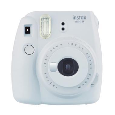 Fujifilm Instax Mini 9 Instant Film Camera - Smokey White Polaroid