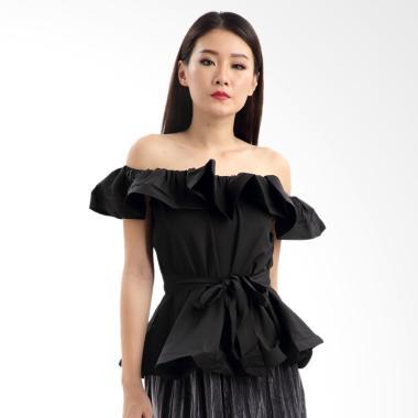 MKY Clothing Ruffle Sabrina Blouse