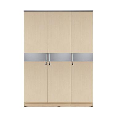 Kirana Manhattan Lemari Pakaian - White Oak [3 Pintu]