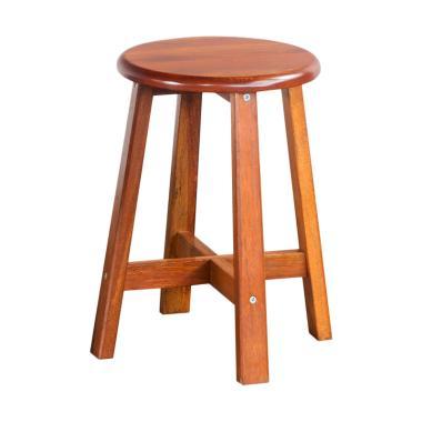 Oscar Furniture Fogia Bulat Meja Makan dan Kursi Dining Set - Cocoa