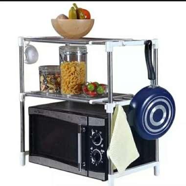 harga Microwave Storage Rack Rak portable serbaguna 2 susun Keren multicolor Blibli.com