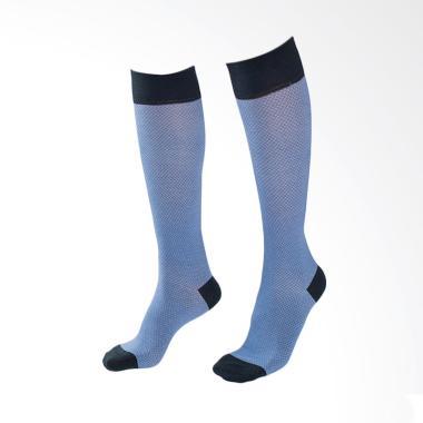Doormind Knee High Socks Zig Zag Elektra Kaos Kaki Unisex - Blue Black