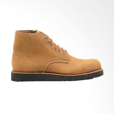 Brodo Alpha Fresato Sepatu Boot Pria - Tan