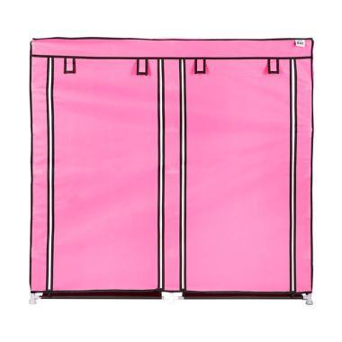 Nine Box D6 Rak Sepatu with Cover - Pink [12 Susun]