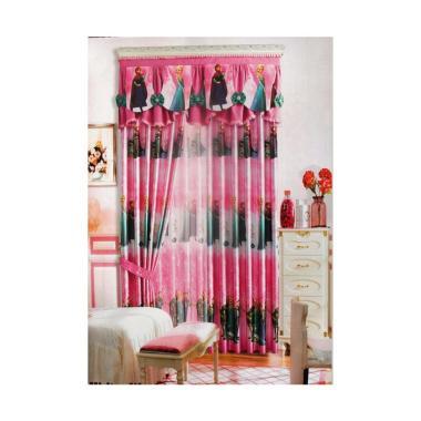 Jaxine Sprei Katun Motif Polkadot - Merah. Source · Ellenov Black Out Play Ground Frozen Pink Set Gorden [260 x 260 cm]