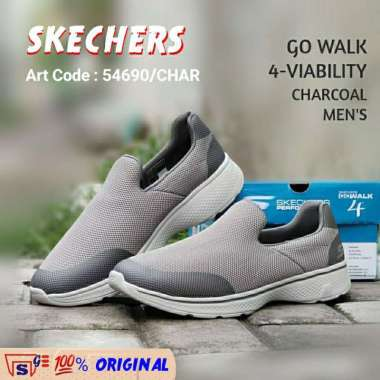 harga Sepatu Sneakers SKECHERS GO WALK 4-VIABILITY ORIGINAL 54690 CHARCOAL MEN'S Setya Global 43.5 Charcoal Blibli.com