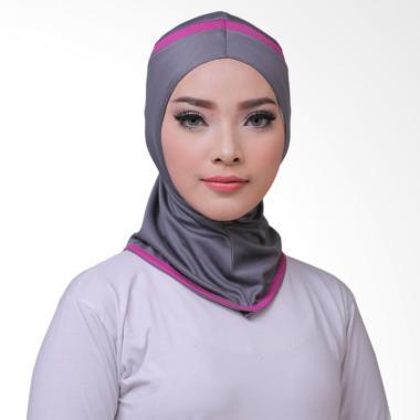 ATTIQAHIJAB Fitness Short Sport Hijab Instan - Grey List Purple