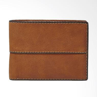 Fossil SML 1067210 Ethan Traveler Dompet Pria - Brown [Medium]