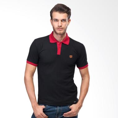 Sognoleather Basic Polo Shirt Atasan Pria - Hitam snd217