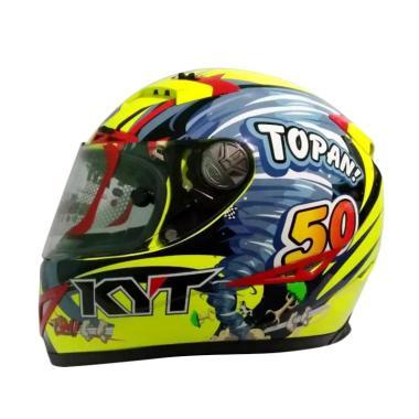 harga KYT C5 Limited Edition Topan Full Face Helm Motor - Yellow Blue Red Blibli.com