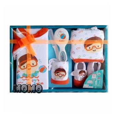 Kiddy Baby Gift Set 11160 Let's Swim Pakaian Bayi Orange [Size 0 ...