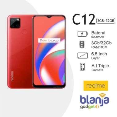 harga REALME C12 3/32GB RAM 3GB INTERNAL 32GB GARANSI RESMI Merah Blibli.com