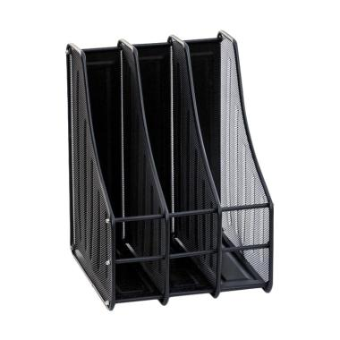 SOHO Magazine Tray 3 Tier Lengkung Box File - Black