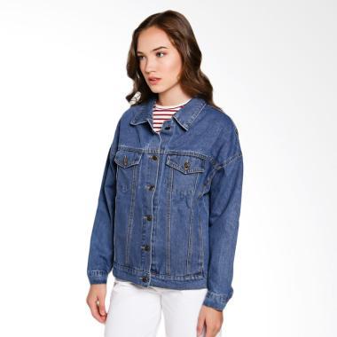 Papercut Fashion GZ 02 No 21 JK14 Girls Crew Denim Jacket Wanita