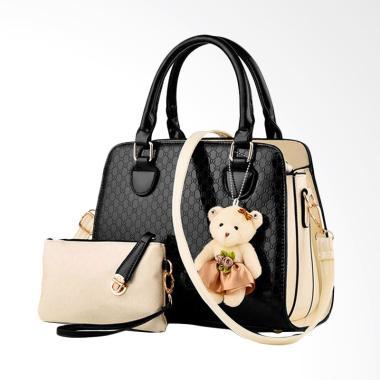 IMF BG888 2in1 Hand Bags Import Tas Wanita- Hitam