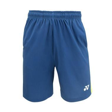 YONEX Lee Chong Wei Men Knits Shorts Celana Badminton Pria - Dark Blue TSM15001CWEX