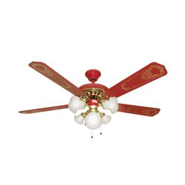 UCHIDA CF-111 Ceiling Fan - Red [52 Inch/ 5 Lampu]