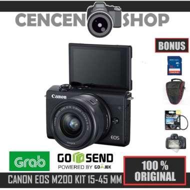 harga Free++ | Canon EOS M200 kit 15-45mm IS STM Mirrorless M 200 4K VIDEO Blibli.com