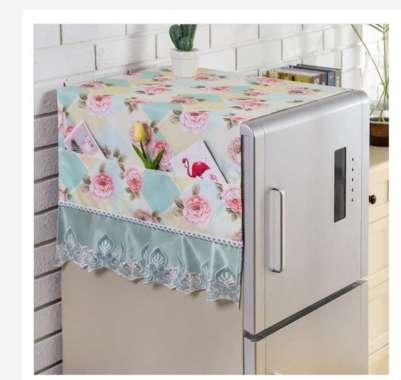 harga Taplak Meja Table Runner Tutup Microwave Sarung Tutup Kulkas Refrigerator Shabby Lace Cover Series Refrigerator Single Diamond Tosca Blibli.com