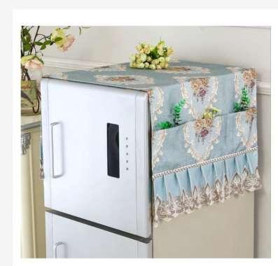 harga Taplak Meja Table Runner Tutup Microwave Sarung Tutup Kulkas Refrigerator Shabby Lace Cover Series Table Runner L Blue Blibli.com