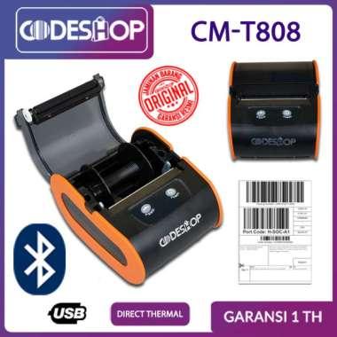 harga THERMAL PRINTER BLUETOOTH CODESHOP CM-T808 PORTABLE 80 MM Blibli.com