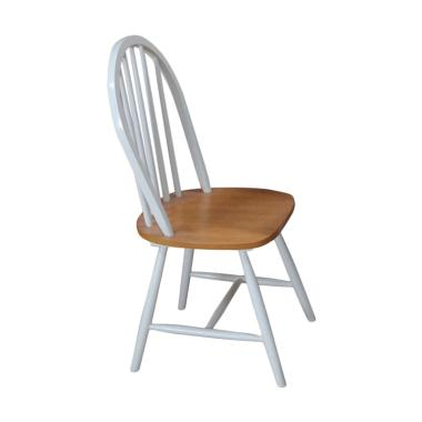 Livien Maple Story Winger Chair Kursi - White Brown