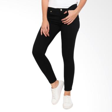 FBW Iris Pencil Skinny Celana Jeans Wanita - Hitam