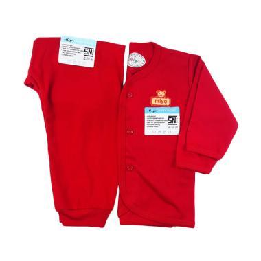 miyo Panjang Dan Celana Panjang  Setelan Pakaian Tidur Anak - Merah