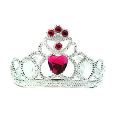 Balonasia Crown Stone Mahkota Batu Imitasi Aksesoris Anak - Red