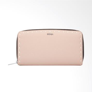 Bonia Blush Bianca Zipper Wallet - Pink